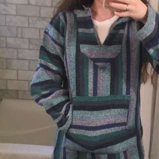 Blue Hemp Style Sweater