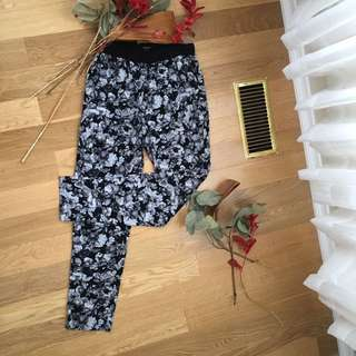 F21 Floral Silky Pants