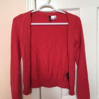 H&M Red Cardigan