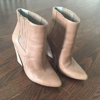 BCBG Nude Booties