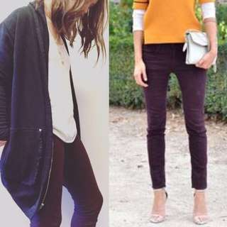 ⭐️ WilfredFree / Aritzia $145 Maroon Skinny Jeans