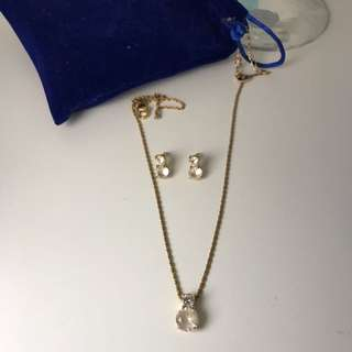 Swarovski Necklace And Earnings