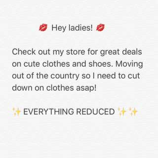 REDUCED ITEMS!!