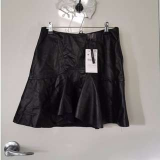 ZARA Leather Skirt M