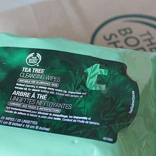 [1-FOR-1] Body Shop Tea Tree Cleansing Wipes