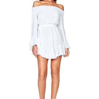 White Nookie Frill Dress