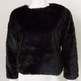 Unreal Fur Brand Black Jacket Size M