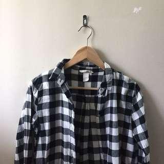 black&white flannel