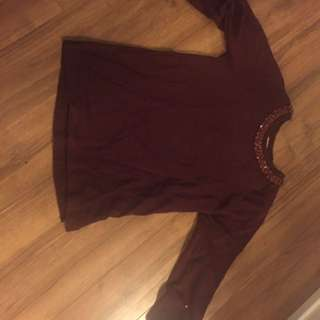 Burgundy Jcrew Sweater