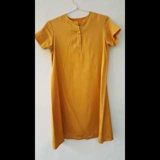Mustard Dress Uk M