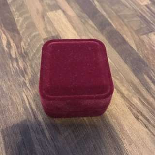 Pristine Condition Jewellery Red Velvet Box