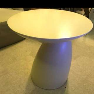 Round Cream Color Side Table