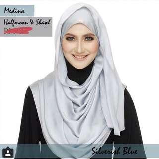Marshmallowscarf Satin Silk Halfmoon Shawl