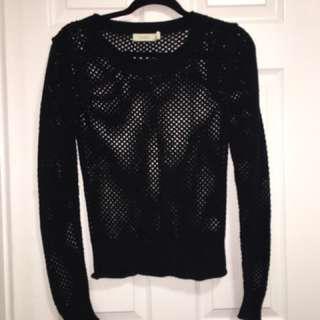 Black Mesh Sweater