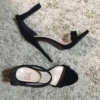 One Strap Black Heels