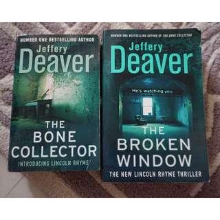 (Book Bundle) The Bone Collector & The Broken Window by Jeffrey Deaver