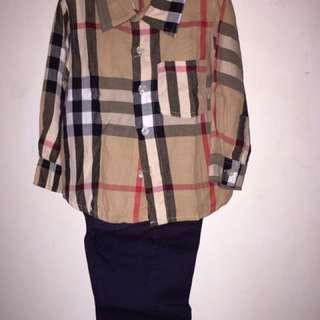 Burberry Set Shirt And Pants