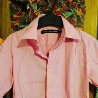 🚚 二手 - RALPH LAUREN SPORT 粉色五分袖襯衫