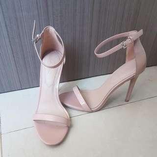 ALDO ankle nude heels (authentic)
