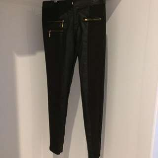 5 For $10 Faux Leather Pants