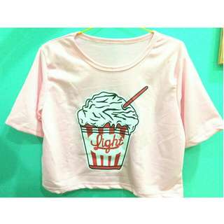 Crop Tee Ice Cream