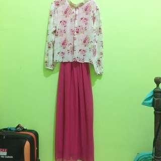 Flower Pink Dress