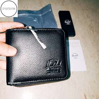[SG52 SALE!]✔Herschel Walt Wallet (Leather Black)