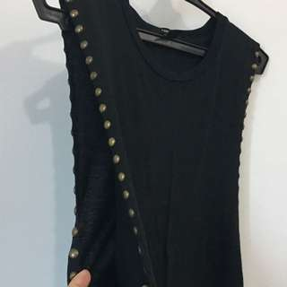 ❤️Preloved Forever21 Long Black Top/Muscle Tee❤️