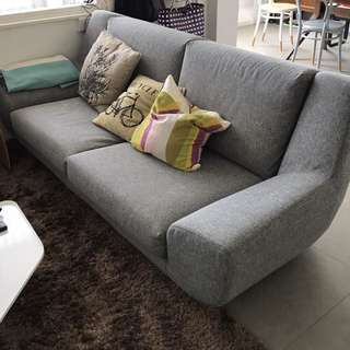 Grey 2-seater Sofa