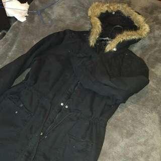 Super Warm Hooded Faux Fur Hooded Jacket
