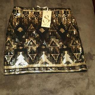 BNWT SASS Sequin Mini Skirt RRP $79.95