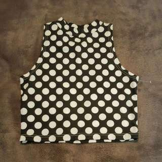BNWOT All About Eve Polka Dot Mini CROP Top