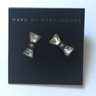 NEW Marc by Marc Jacobs Bow Crystal Earrings