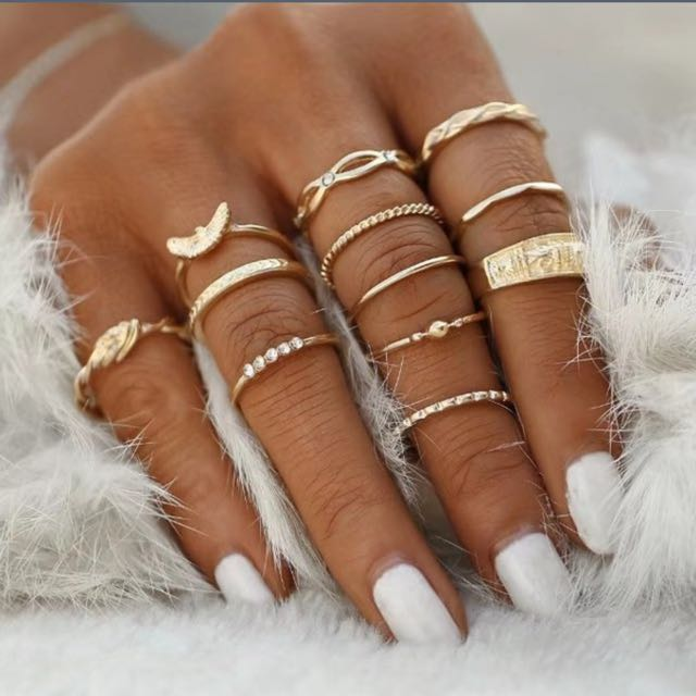 12pcs Finger Rings