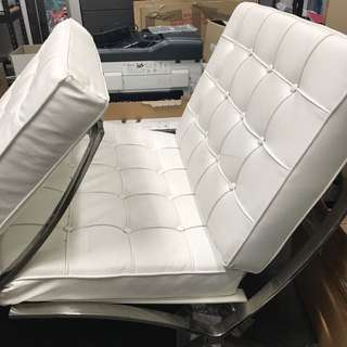 Leather Quilted Couch (both sets)