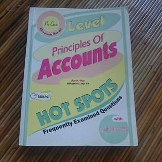 O Level Principle of Accounts Hot Spots Frequently Examined Questions
