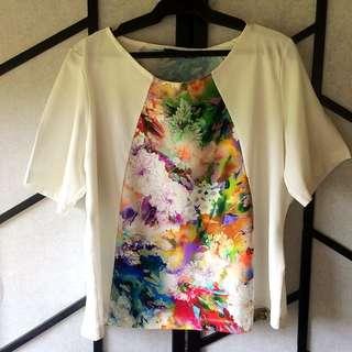 Floral design top/shirt
