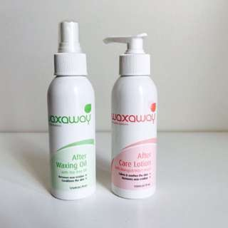 Waxaway Waxing Oil And Aftercare Lotion