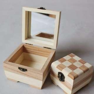 Handmade Pine Wood Beauty Storage Box