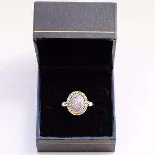 White & Yellow Diamond Ring
