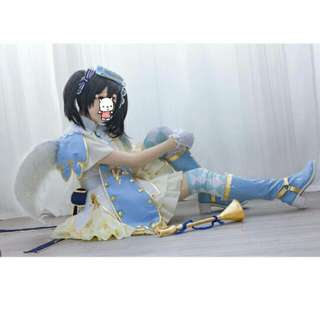 Love Live! SR Nico Yazawa Awaken Angel Cosplay Outfit, Wings And Boots