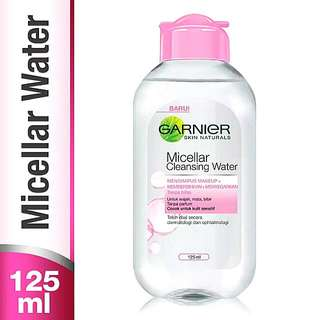 GARNIER Micellar Cleansing Water For Sensitive Skin [PINK] 125ml 100% Original By. Garnier
