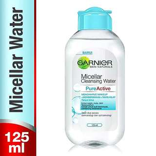 GARNIER Micellar Cleansing Water For Oily Skin [BLUE] 125ml 100% Original By. Garnier