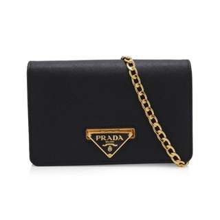 *** RESERVED*** Brand New Prada Saffiano Wallet On Chain