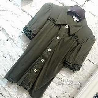 🚚 KOOKAI綠色小袖棉質上衣