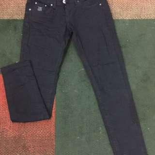 celana jeans hitam brand LOGO
