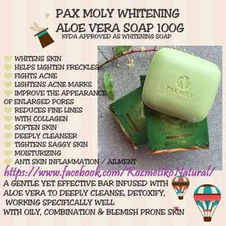 Pax Moly Whitening Aloe Vera soap