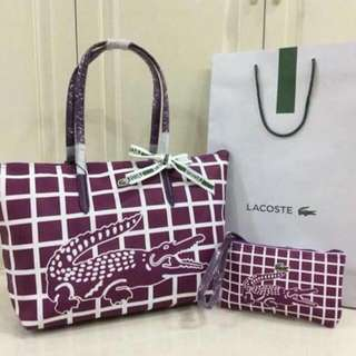 Authentic Quality Lacoste 2 in 1 Bag