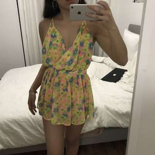 Yellow Backless Playsuit