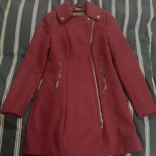 Forever New Fushsia Coat - Size 6